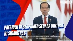 Presiden RI Berpidato secara Virtual di Sidang PBB