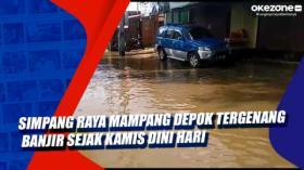 Simpang Raya Mampang Depok Tergenang Banjir Sejak Kamis Dini Hari