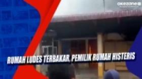 Pemilik Rumah Histeris Rumah dan Isinya Ludes Terbakar di Gunungsitoli, Sumatra Utara