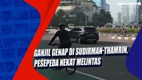 Ganjil Genap di Sudirman-Thamrin, Pesepeda Nekat Melintas