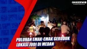 Puluhan Emak-Emak Geruduk Lokasi Judi di Medan