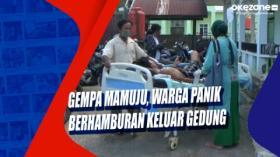 Gempa Mamuju, Warga Panik Berhamburan Keluar Gedung