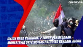 Unjuk Rasa Peringati 2 Tahun Penembakan Mahasiswa Universitas Haluoleo Kendari, Ricuh