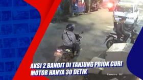 Aksi 2 Bandit di Tanjung Priok Curi Motor hanya 30 Detik