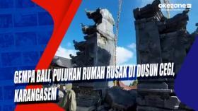 Gempa Bali, Puluhan Rumah Rusak di Dusun Cegi, Karangasem