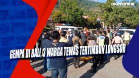 Gempa di Bali, 3 Warga Tewas Tertimbun Longsor