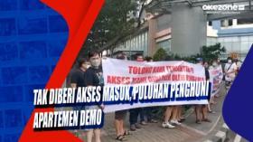Tak Diberi Akses Masuk, Puluhan Penghuni Apartemen Demo