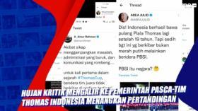 Hujan Kritik Mengalir ke Pemerintah Pasca-Tim Thomas Indonesia Menangkan Pertandingan