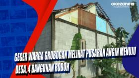 Geger Warga Grobogan Melihat Pusaran Angin Menuju  Desa, 4 Bangunan Roboh