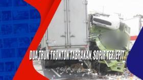 Dua Truk Tronton Tabrakan, Sopir Terjepit di Nganjuk, Jatim