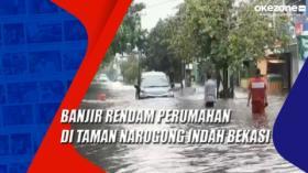 Banjir Rendam Perumahan di Taman Narogong Indah Bekasi