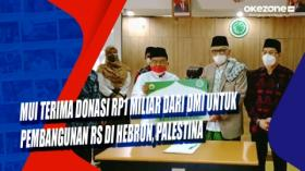 MUI Terima Donasi Rp1 Miliar dari DMI untuk Pembangunan RS di Hebron, Palestina