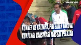 Kunker ke Kaltara, Presiden Jokowi Kunjungi Vaksinasi Massal Pelajar