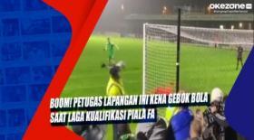 Boom! Petugas Lapangan Ini Kena Gebok Bola saat Laga Kualifikasi Piala FA