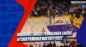 Warriors Sukses Permalukan Lakers di Laga Pembuka NBA 2021-2022