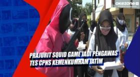 Prajurit Squid Game Jadi Pengawas Tes CPNS Kemenkumham Jatim