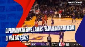 Dipermalukan Suns, Lakers Telan Kekalahan Kedua di NBA 2021-2022