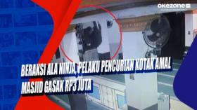 Beraksi Ala Ninja, Pelaku Pencurian Kotak Amal Masjid Gasak Rp3 Juta