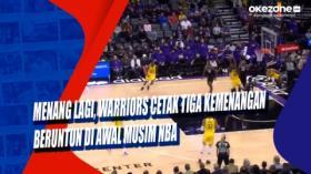 Menang Lagi, Warriors Cetak Tiga Kemenangan Beruntun di Awal Musim NBA