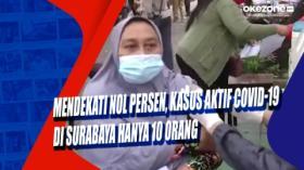Mendekati Nol Persen, Kasus Aktif Covid-19 di Surabaya Hanya 10 Orang