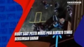 Ribut saat Pesta Miras, Pria Bertato Tewas Bersimbah Darah di Makassar Sulsel