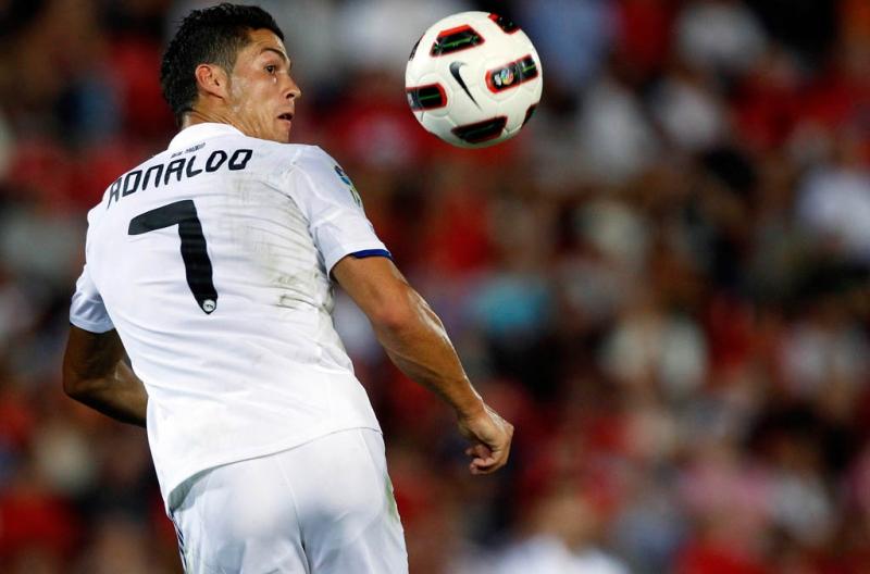 Aksi gemilang Cristiano Ronaldo saat mengendalikan bola