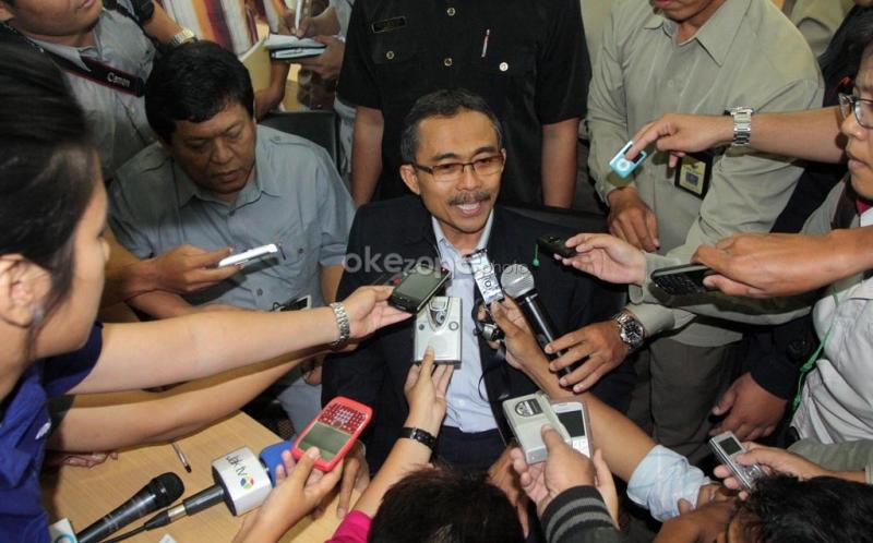 Ketua Komisi Yudisial (KY) terpilih, Eman Suparman memberikan keterangan kepada wartawan usai pemilihan.