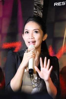 Elsa Diandra di acara gala premier film KM 97 di Studio 2 XXI Epicentrum, Kuningan, Jakarta Selatan, Selasa (19/3/2013).