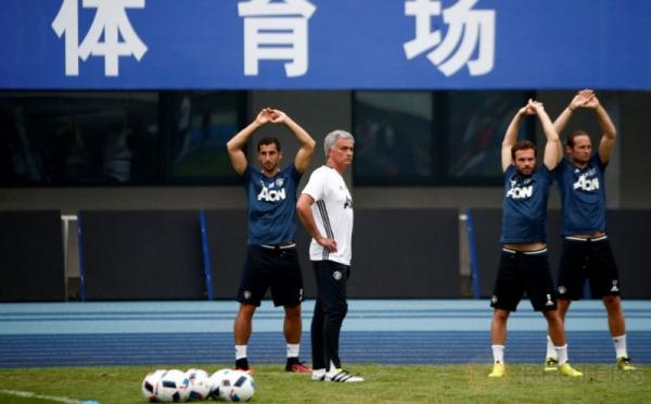 Manchester United Gelar Latihan Jelang ICC 2016 Kontra City