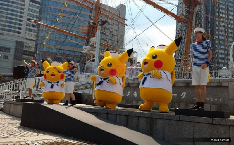 Atraksi Pikachu Dance Tarik Perhatian Ribuan Orang