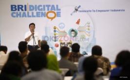 <p>  Suasana acara konferensi pers BRI Digital Challenge di Gedung BRI, Jakarta, Jumat (12/8/2016) malam.</p>