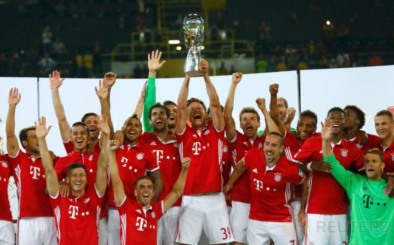 Bayern Munich keluar sebagai juara Piala Super Jerman 2016 usai mengalahkan Borussia Dortmund 2-0, pada laga yag digelar di Signal Iduna Park, Senin (15/8/2016) dini hari WIB.