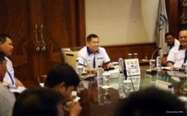 Ketua Umum Federasi Futsal Indonesia (FFI) Hary Tanoesoedibjo memimpin rapat koordinasi Federasi Futsal Indonesia di Jakarta, Minggu (28/8/2016).
