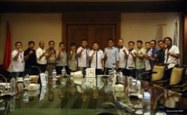 Ketua Umum Federasi Futsal Indonesia (FFI) Hary Tanoesoedibjo usai memimpin rapat koordinasi Federasi Futsal Indonesia di Jakarta, Minggu (28/8/2016).