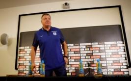 Pelatih anyar timnas Inggris Sam Allardyce hadir pada konferensi pers di Inggris, Senin (29/8/2016). Dewan Asosiasi Sepakbola Inggris (FA) telah menunjuk mantan arsitek Sunderland ini mengisi posisi pelatih timnas Inggris yang kosong sejak Roy Hodgson hengkang.