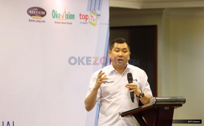 Hary Tanoe Berikan Pengarahan di Rakornas MNC Sky Vision