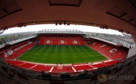 Suasana di Stadion Anfield, Inggris. Kandang baru The Reds ini kabarnya mampu menampung penonton menjadi 54.000.