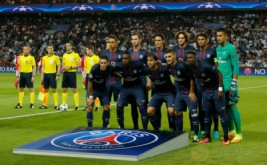 Pemain Paris Saint-Germain berpose sebelum matchday perdana Grup A Liga Champions 2016-2017 di Parc des Princes, Paris, Prancis, Rabu (14/9/2016) dini hari WIB.