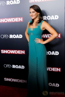 Shailene Woodley Tampil Seksi dengan Busana Warna Hijau