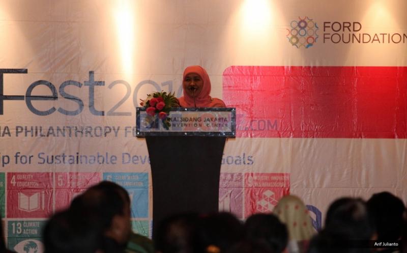 Mensos Khofifah Buka Indonesia Philanthropy Festival 2016