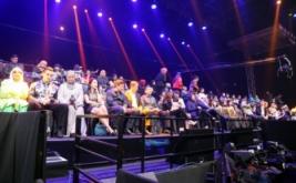 Hary Tanoe Hadiri Amazing 14 GlobalTV di MNC Studios Kebon Jeruk