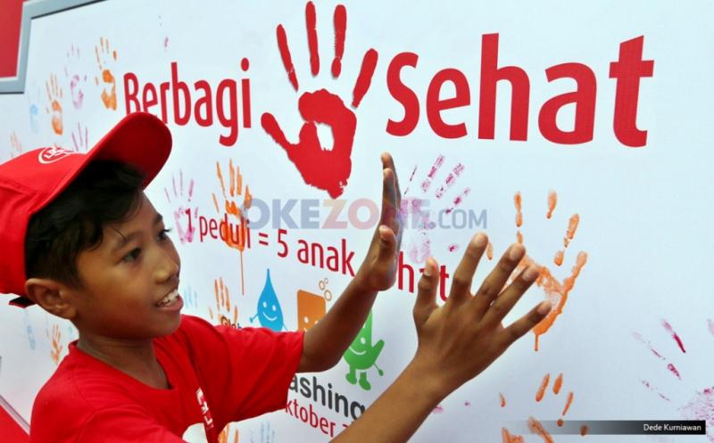 Demi Kesehatan, Ribuan Siswa SD Peringati Hari Cuci Tangan Sedunia