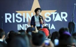 Hanin Dhiya Semangati Peserta Audisi Rising Star Indonesia 2016