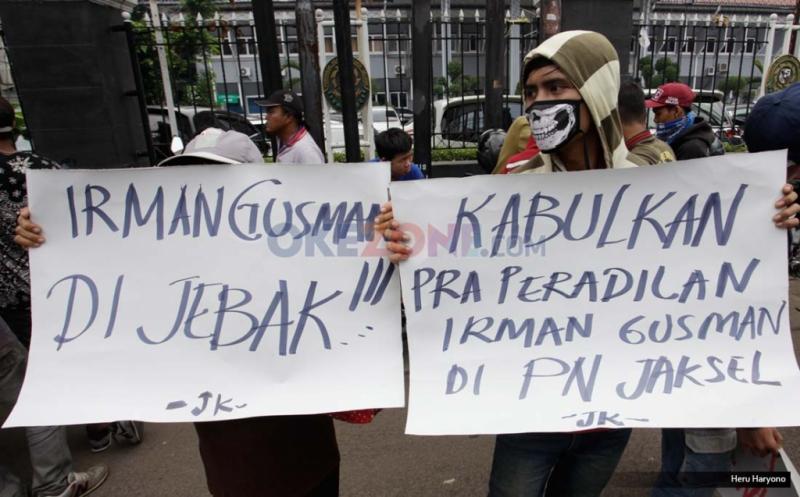 Jaringan Kerakyatan Desak Pengadilan Kabulkan Prapradilan Irman Gusman