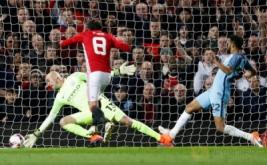 Juan Mata mencetak gol ke gawang Manchester City pada menit 54.