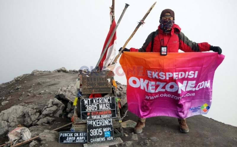 Tim Ekspedisi Okezone Berhasil Jejakkan Kaki di Puncak Gunung Kerinci