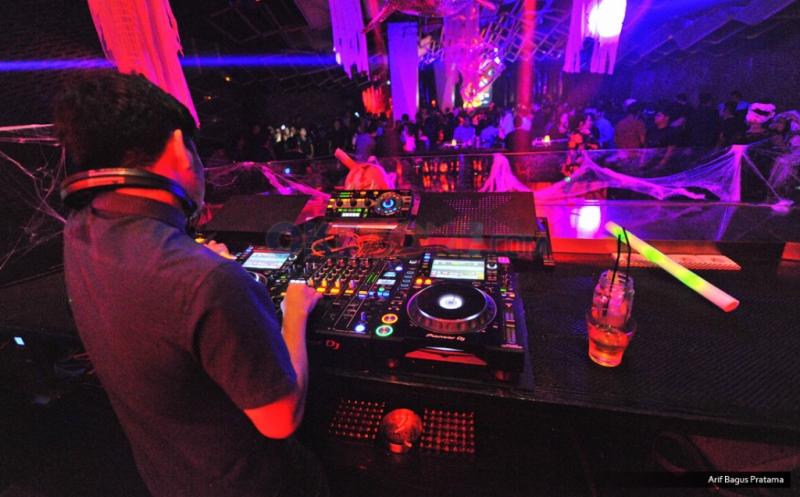 Suasana Halloween Party Brand Outlet di Jenja Jakarta