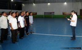 Ketua Umum Partai Perindo yang juga Ketua Umum FFI Hary Tanoesoedibjo mengukuhkan pengurus Asosiasi Futsal Provinsi Maluku, Sulbar, dan Gorontalo, Selasa (22/11/2016).