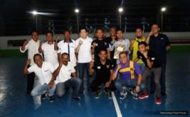 Ketua Umum Partai Perindo yang juga Ketua Umum FFI Hary Tanoesoedibjo foto bersama pengurus usai mengukuhkan pengurus Asosiasi Futsal Provinsi Maluku, Sulbar, dan Gorontalo, Selasa (22/11/2016).