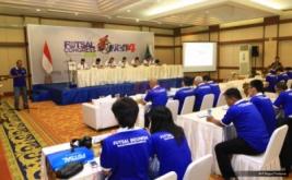 Suasana kongres Federasi Futsal Indonesia (FFI) 2016 di Auditorium MNC Tower, Jakarta Rabu (30/11/2016). Kongres FFI 2016 membahas prospek ke depan Futsal Indonesia serta Timnas Futsal Indonesia yang akan dilatih oleh Victor Hermans, mantan pelatih Timnas Thailand.